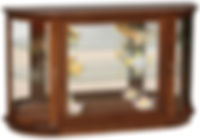 Large Console Curio with Rounded Sides|Brown Maple in Acres OCS106|49in W x 13in D x 30in H|The Amish Home|Hardwood Furniture at the Pittsburgh Mills