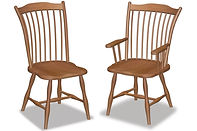 Archback Dining Chair|Oak in Fruitwood OCS102 | Shown with Wood Seat.|The Amish Home|Amish Furniture at the Pittsburgh Mills