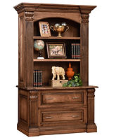 Montereau Lateral File Cabinet with optional hutch | Brown Maple in Rock Tavern | 53in W x 24 1/4in D x 85 1/4in H | The Amish Home | Amish Furniture at the Pittsburgh Mills