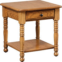 DT End Table | Oak in Seely OCS104 | 22in W x 22in D x 24in H | The Amish Home | Amish Furniture at the Pittsburgh Mills