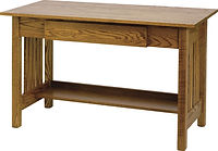 Junior's Mission Writing Desk | Oak in Medium OCS110 | 48in W x 22in D x 30in H | The Amish Home | Amish Furniture at the Pittsburgh Mills