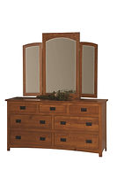 Michael's Mission 66in Dresser|Quartersawn White Oak in Michaels OCS113|65in W x 21 1/4in D x 34in H|The Amish Home|Amish Furniture at the Pittsburgh Mills