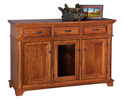 Lindenhurst Sideboard|Rustic Cherry in Seely OCS104|61in W x 21in D x 40in H|The Amish Home|Amish Furniture at the Pittsburgh Mills