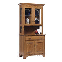 Americana 2 Door Hutch Oak in Fruitwood OCS102 35in W x 18in D x 79in H The Amish Home Amish Furniture at the Pittsburgh Mills