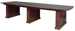Executive Conference Table|Cherry in Boston OCS111|144in W x 48in D x 31in H|The Amish Home|Amish Furniture at the Pittsburgh Mills