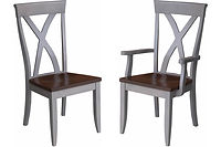 Brooke Dining Chair|Brown Maple in Two-Tone | Shown with two-tone finish and wood seats.|The Amish Home|Amish Furniture at the Pittsburgh Mills
