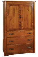 Meridian Armoire|Rustic Cherry in Seely OCS104|39in W x 21in D x 67in H|The Amish Home|Amish Furniture at the Pittsburgh Mills
