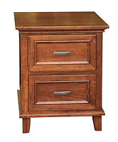 Brooklyn 2 Drawer Nightstand|Rustic Cherry in Michaels OCS113|21 1/2in W x 20 1/4in D x 26 1/2in H|The Amish Home|Hardwood Furniture at the Pittsburgh Mills