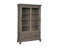 Koehler Road Dining Cabinet | Brown Maple in Smoke OCS121 | 48in W x 18in D x 78in H | The Amish Home | Amish Furniture at the Pittsburgh Mills