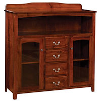 Millcreek Server|Brown Maple in Boston OCS111|48 1/2in W x 17 1/4in D x 48in H|The Amish Home|Amish Furniture at the Pittsburgh Mills