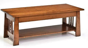 Aspen Coffee Table|Rustic Cherry in Michaels OCS113|48in W x 22in D x 18in H|The Amish Home|Amish Furniture at the Pittsburgh Mills