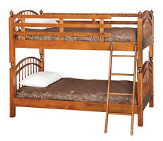 Double Bow Bunk Bed|Oak in MX OCS103|80in W x 44in D x 65 1/4in H|The Amish Home|Hardwood Furniture at the Pittsburgh Mills