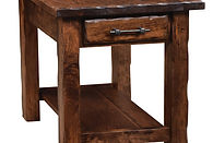 Hand Hewn End Table|Rustic Cherry in Medium OCS110|22in W x 24in D x 24in H|The Amish Home|Amish Furniture at the Pittsburgh Mills