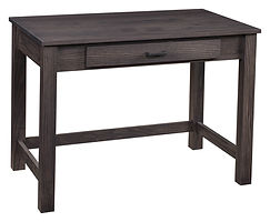Junior's Mission Large Writing Desk | Oak in Antique Slate OCS118 | 40in W x 24in D x 30in H | The Amish Home | Amish Furniture at the Pittsburgh Mills