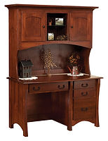 Master Desk with Hutch|Rustic Cherry in Michaels OCS113|53 1/2in W x 26in D x 71in H|The Amish Home|Amish Furniture at the Pittsburgh Mills