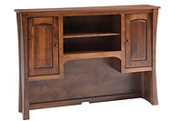 Woodbury Hutch | Brown Maple in Asbury OCS117 | in W x in D x in H | The Amish Home | Amish Furniture at the Pittsburgh Mills