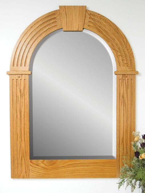 Arch Top Keystone Wall Mirror