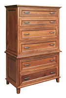 Brooklyn Chest on Chest|Rustic Cherry in Michaels OCS113|39in W x 20 1/4in D x 63in H|The Amish Home|Hardwood Furniture at the Pittsburgh Mills