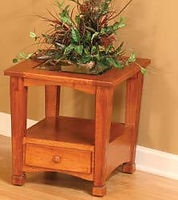 Granville Shaker End Table | Oak in Michaels OCS113 | 22in W x 24in D x 24in H | The Amish Home | Amish Furniture at the Pittsburgh Mills
