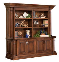 Paris Double Door Credenza with optional hutch | Cherry in Chocolate Spice FC-9090 | 87in W x 23 3/4in D x 82 1/2in H | The Amish Home | Amish Furniture at the Pittsburgh Mills