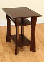 Westfield End Table|Brown Maple in Coffee OCS226|17in W x 24in D x 24in H|The Amish Home|Amish Furniture at the Pittsburgh Mills