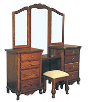 Classic Vanity|Oak in Washington OCS107|74 1/2in W x 21in D x 35 3/4in H|The Amish Home|Amish Furniture at the Pittsburgh Mills