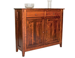 Settlers Ridge 2 Door Buffet|Rustic Cherry in Michaels OCS113|50in W x 16in D x 42in H|The Amish Home|Amish Furniture at the Pittsburgh Mills