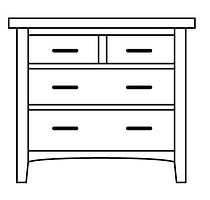 Choices 4 Drawer Chest| in |37in W x 21in D x 36in H|The Amish Home|Amish Furniture at the Pittsburgh Mills