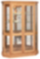 Angled Double Door Picture Frame Curio|Oak in Fruitwood OCS102|53in W x 21in D x 72in H|The Amish Home|Hardwood Furniture at the Pittsburgh Mills