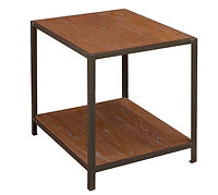 Montgomery End Table with metal base | Metal Base & Oak in Michaels OCS113 | 22in W x 26in D x 25in H | The Amish Home | Amish Furniture at the Pittsburgh Mills