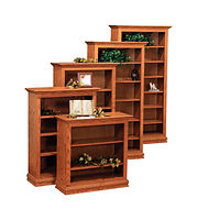 Wayne's Traditional Bookcase | Oak in Seely OCS104 | Many Sizes Available | The Amish Home | Amish Furniture at the Pittsburgh Mills