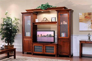 Arlington Entertainment Center|Brown Maple in Coffee OCS226|Many Sizes Available|The Amish Home|Amish Furniture at the Pittsburgh Mills