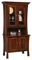 Woodbury 2 Door Hutch Rustic Cherry in Asbury OCS117 41 3/4in W x 20 1/2in D x 83in H The Amish Home Amish Furniture at the Pittsburgh Mills