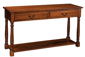 Biltmore Sofa Table|Rustic Cherry in Michaels OCS113|54in W x 18in D x 30in H|The Amish Home|Amish Furniture at the Pittsburgh Mills