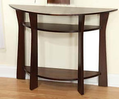 Westfield Foyer Table|Brown Maple in Coffee OCS226|28in W x 14in D x 30in H|The Amish Home|Hardwood Furniture at the Pittsburgh Mills