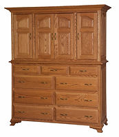 Crown Villa Mule Chest | Oak in Seely OCS104 | 66 1/2in W x 23 1/2in D x 80in H | The Amish Home | Amish Furniture at the Pittsburgh Mills