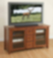 Madison TV Stand|Cherry in Washington OCS107|56in W x 20in D x 30in H|The Amish Home|Hardwood Furniture at the Pittsburgh Mills