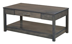 Nelson's Economy Urban Coffee Table | Brown Maple in Smoke OCS121 | 42in W x 22in D x 18in H | The Amish Home | Amish Furniture at the Pittsburgh Mills