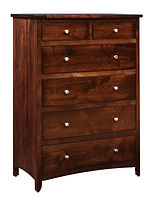 Roxbury Bureau Brown Maple in Rich Tobacco OCS228 37in W x 21 1/4in D x 53 1/4in H The Amish Home Amish Furniture at the Pittsburgh Mills