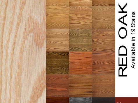 Finish Options - Wood species & stains for your handcrafted furniture