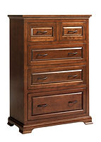 Wilkshire Chest of Drawers|Rustic Cherry in Boston OCS111|36in W x 18in D x 51 1/2in H|The Amish Home|Amish Furniture at the Pittsburgh Mills