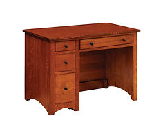 Wayne's Modern Shaker Student Desk | Quartersawn White Oak in Michaels OCS113 | 43in W x 26in D x 31in H | The Amish Home | Amish Furniture at the Pittsburgh Mills