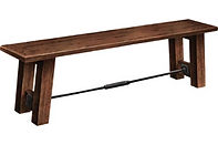 Glenwood Bench|Brown Maple in L.O. | |The Amish Home|Amish Furniture at the Pittsburgh Mills