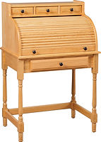 Junior's Small Roll Top Desk | Oak in Seely OCS104 | 30in W x 20in D x 45in H | The Amish Home | Amish Furniture at the Pittsburgh Mills