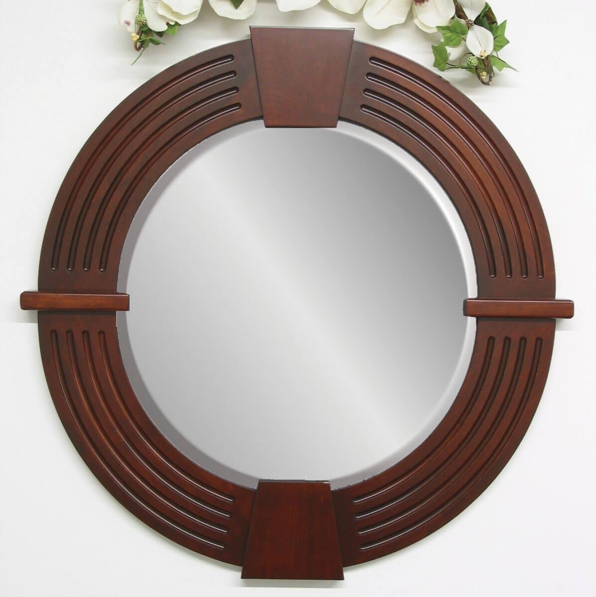 Round Keystone Wall Mirror