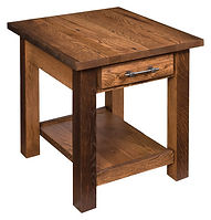 Reclaimed Barn Wood End Table | Reclaimed Barn Wood in Fruitwood OCS102 | 22in W x 24in D x 24in H | The Amish Home | Amish Furniture at the Pittsburgh Mills