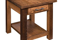 Reclaimed Barn Wood End Table|Reclaimed Barn Wood in Fruitwood OCS102|22in W x 24in D x 24in H|The Amish Home|Amish Furniture at the Pittsburgh Mills