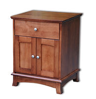 Crescent 1 Drawer 2 Door Nightstand|Cherry in S-14 OCS108|24 1/2in W x 20 3/4in D x 30 1/2in H|The Amish Home|Amish Furniture at the Pittsburgh Mills