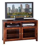 Park Avenue TV Stand|Brown Maple in Michaels OCS113|48in W x 18in D x 30in H|The Amish Home|Amish Furniture at the Pittsburgh Mills