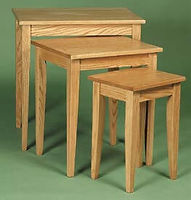 Shaker Nesting Tables|Oak in S-2 OCS101|The Amish Home|Amish Furniture at the Pittsburgh Mills
